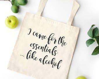 Funny Wine Bag | Alcohol Tote Bag | Funny Grocery Bag