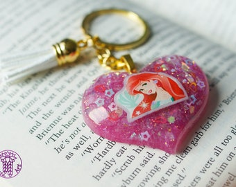 Little Mermaid Ariel Heart Key Chain