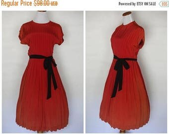 ON SALE 1940s blood orange dress   1940s red dress   40s dress   xs 1940s dress   extra small 1940s dress   1940s dress   vintage ombre dres