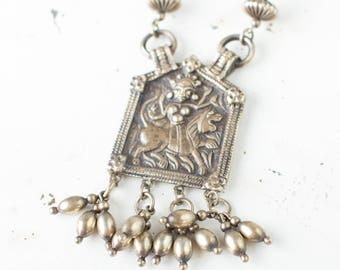 Antique Sterling Silver Peruzzi Boston Renaissance Revival Necklace