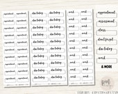 Word Dashed Box Stickers - Planner Stickers - B25