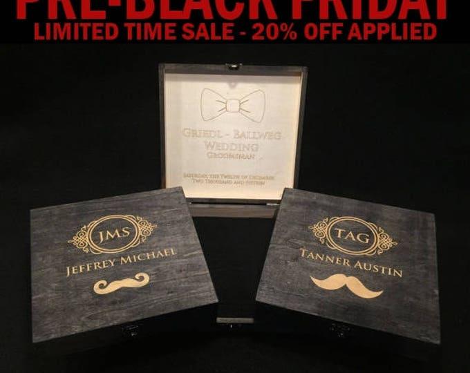 Cigar Box, Groomsman, Best Man Gift, Bridal Gift Box, Personalized Wedding Gift Box, Groomsmen Cigar Box, Men's Box, Man Gift, Father's Day