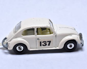 Matchbox Lesney No. 15 Volkswagen 1500 Saloon, VW Beetle Bug, 1960's, made in England Original Vintage Die Cast Toy Car Collection