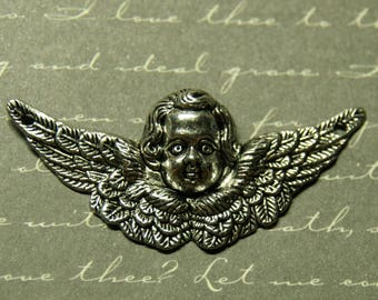 Great connector winged angel silver-plated 22x50mm