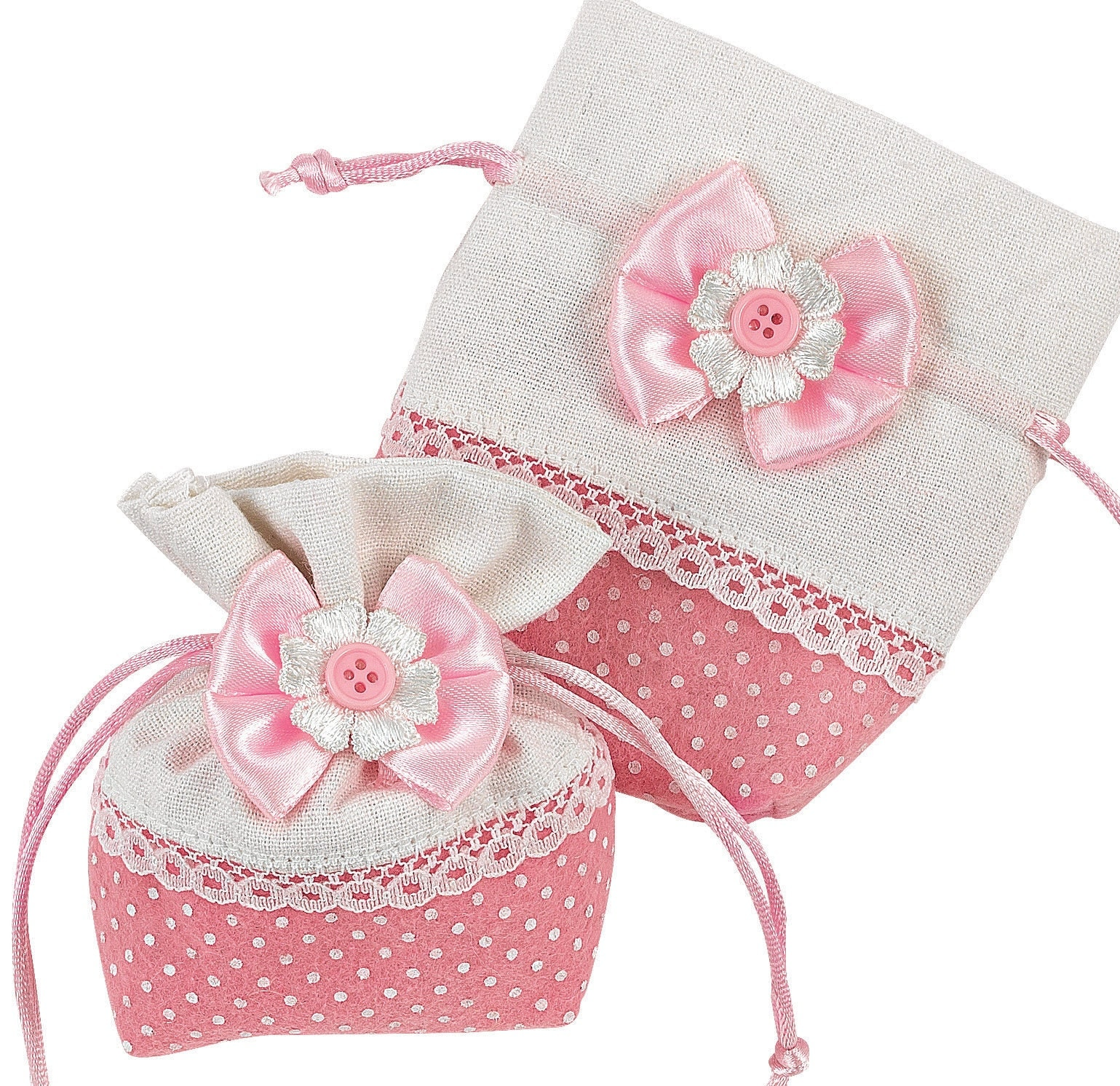 Pink Baptism Favors For Girls Bomboniere Battesimo Bags