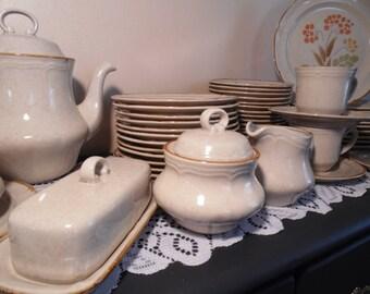 vintage stoneware the classics hearthside somerset pattern retro dinnerware orange floral mix u0026 match everyday dishes