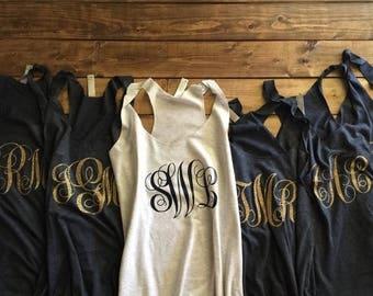 ENDS AT 3AM monogram bridesmaid shirts, bridesmaid shirts, bridesmaid tanks, funny bridesmaid shirts, funny bridesmaid tanks, team bride shi