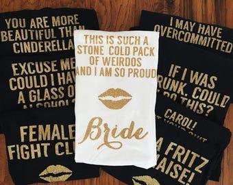 ENDS AT 3AM Bridesmaid movie, bachelorette shirts,bridesmaid shirts, bridesmaid tanks, funny bridesmaid shirts, funny bridesmaid, Old