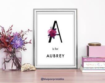 Aubrey Name Sign Etsy