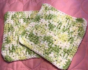 Set of 2 Hand Crocheted Dish Cloths