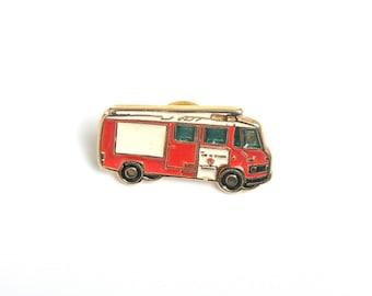 Fire truck, Lapel pin, enamel pin, pin for him, lapel enamel pin, fireman, fire enamel pin, emergency
