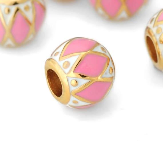 Stainless steel pink and gold diamond pattern european for European steel enamel bathtub