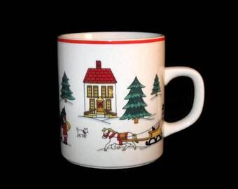 Vintage Christmas Mug, The Joy Of Christmas Mug, Jamestown China Mug, Holiday Cup, Collectible Mug, Coffee Cup