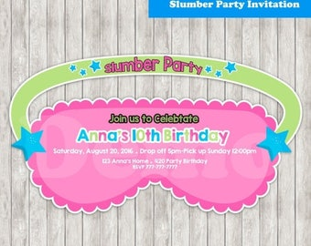 50% Off Slumber Party Invitation-Pajama Party-Invitation Slumber-Pajama Birthday-Pajama Invite-printable-Pajama girl-Invitation Slumber