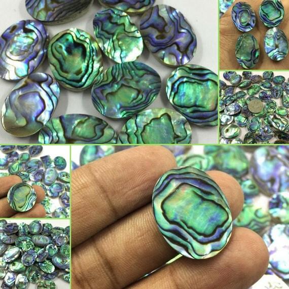 Natural Beautiful Abalone Shell Lot Amazing Design Superb