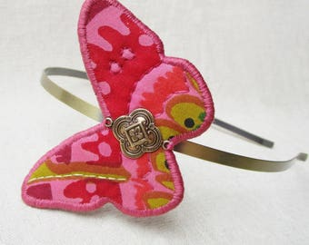 Embroidered, butterfly headband Indira