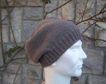 Men wool and alpaca slouchy Hat