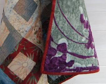 Wonky Squares lap quilt