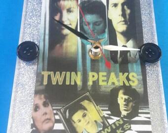 Handmade Acrylic Twin Peaks Wall Clock, Functional Art, Twin Peaks, Retro TV Clock, David Lynch, Twin Peaks Clock, Made By Mod.