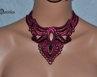 Bridal lace * black cherry *.