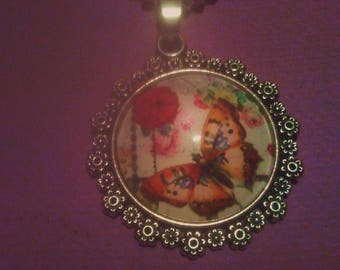 Butterfly Photo -Art Necklace
