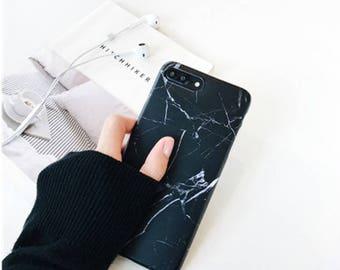 Marble case.iPhone 7 Plus case.iPhone 7 case.Marble iPhone 7 Plus case.Soft iPhone 7 Plus case.Marble iPhone 7 case.iPhone case.Black Marble
