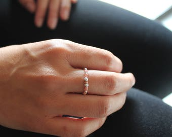 Elastic ring high end rockery old rose