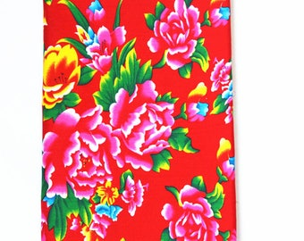 Promotion Traditional Chinese Fabric Blue Peony 0.5m