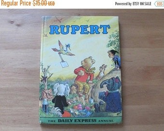 20% OFF Vintage Book Rupert the Daily Express Annual 1972; Rupert Bear Annual Hardcover Book Published in Beaverbrook Newspapers Ltd, Printe