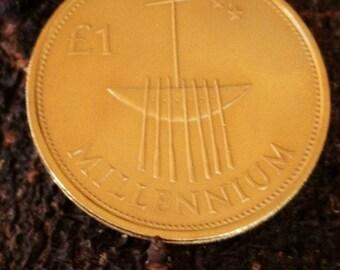 24K GP Ireland Millennium Coin 2000 . Irish Coin Millennium Gold Plated With 24K Gold ...