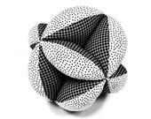 Segmented Fabric Ball, Fabric Stuffed Ball, Fabric Ball, Segmented Ball, Stuffed Segmented Ball, Baby Gift, Holiday Baby Gift, Gift for Baby