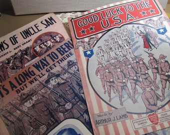 Vintage Sheet Music - War Songs - Patriotic