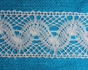 White 4 cm wide cotton lace