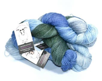 The Yarn that Does it ALL! Superwash Merino/Bamboo/Nylon Blend, 3-ply, Sport Weight, Hand dyed, Hand Painted, Knit, Weave, Crochet, Macramé