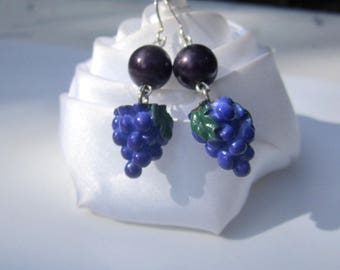 Earrings summer grapes