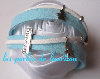 Pretty turquoise and survivor hope bracelet