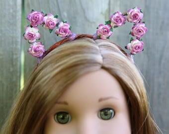 Cat Ear Headband *MAGENTA* for American Girl Dolls