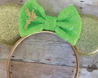 Tinkerbell Ears - Girls Tinkerbell - Tinkerbell Disney Ears - Toddler Tinkerbell - Tinkerbell Mouse Ears - Mickey Ears for Kids