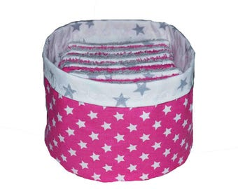 Washable wipes 12 sponge and cotton in their pouch matching stars