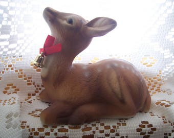 Laying Fawn Figurine