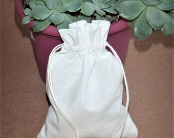 "50 Cotton Pouches * Reusable Gift Bags *  Candy Bags * Packaging Bags * 4""x 5.5"" ( 10cm x 14cm)"