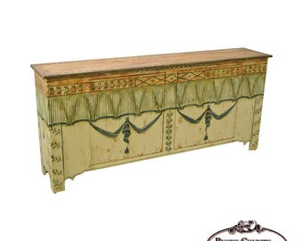 habersham plantation hand painted french style sideboard buffet cabinet