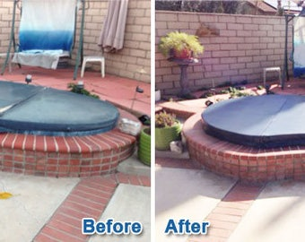 ReCover your Hot Tub Cover - New Spa Cover Vinyl Replacement Made to Fit!
