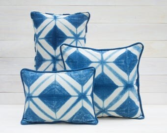 Diamond Geometric Shibori Pillow Cover