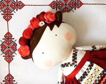 Tilda Ukrainian Sweetheart Doll Folk doll Rag Doll Soft toy Fabric Stuffed Doll Baby Gift for girl-friend Toy Kids room decor Home decor