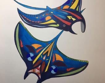 Abstract Manta Ray ~ SAVE