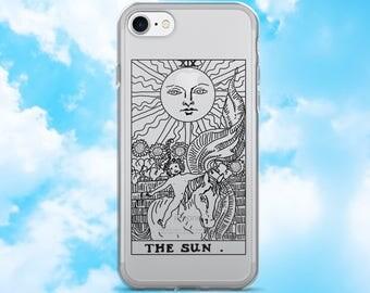 The Sun Tarot Card Clear Zodiac iPhone 7 Case, iPhone 7/7plus, iPhone 6/6 Plus, iPhone 5