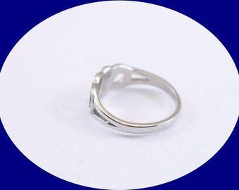 Vintage  Silver Ring 1980 Avon Monaco Faux Marcasite Silver Tone Ladies Band Ring