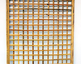 "Set of 4, Framed Bamboo Lattice Panel, square pattern opening, 48""W x 72""H, BWT-46S"