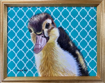 Baby Duck Painting